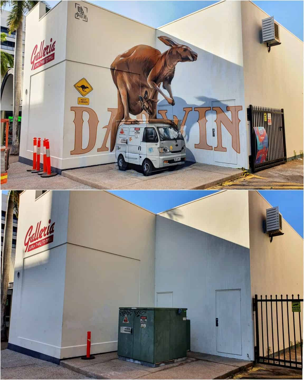 Darwin Street Art Festival 2019: before and after. By Sérgio Odeith
