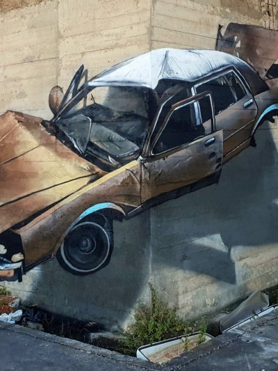 cemented car painting
