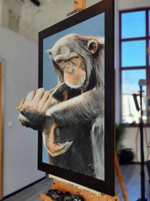 ape anamorphic acrylic painting